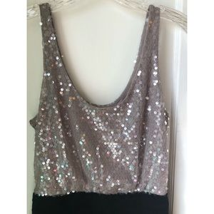 Gold sequin with black bodycon  express dress